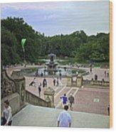 Central Park - Bethesda Fountain Wood Print