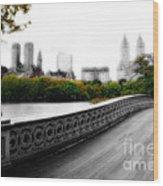 Central Park Bridge 2 Wood Print