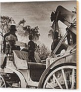 Central Park Carriage Ride - Antique Appeal Wood Print