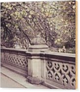 Central Park - New York Wood Print