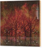 Central Park Ny - Featured Artwork Wood Print