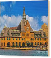 Central Railroad Of New Jersey Terminal Wood Print