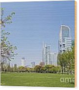 Central Shanghai In China Wood Print