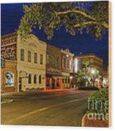 Centre Street Downtown Fernandina Florida Wood Print