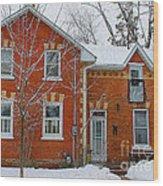 Century Home In Winter 3 Wood Print