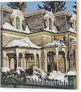Century Home In Winter Wood Print