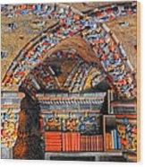 Ceramic Pillars Wood Print