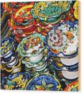 Ceramics Of Vietri Sul Mare  Wood Print