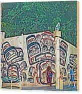 Ceremonial Lodge In Canadian Museum Of Civilization In Gatineau- Wood Print