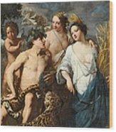 Ceres Bacchus And Venus Wood Print