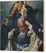 Ceresa Carlo, Our Lady Of The Rosary Wood Print by Everett