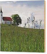 Cerkev Sv Janeza Evangelista Wood Print