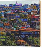 Cerro Valparaiso Wood Print
