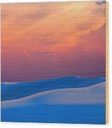 Cerulean Sands Wood Print