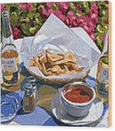 Cervezas Y Nachos - Coronas With Nachos Wood Print