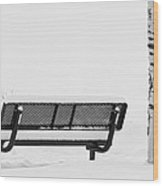Cesar Melai Love In The Snow Bw Wood Print