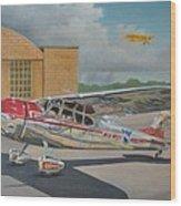 Cessna 195 Wood Print