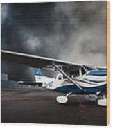 Cessna Ground Wood Print