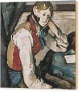 Cezanne, Paul 1839-1906. The Boy Wood Print