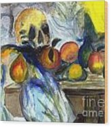 Cezanne Still Life With Skull Wood Print