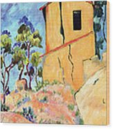 Cezanne's House With Cracked Walls Wood Print