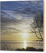 cf 519 A Sunset Over Monterey Bay Wood Print