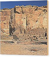 Chaco Culture Puebo Bonito Panorama Wood Print