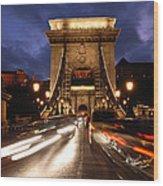 Chain Bridge Budapest  Wood Print