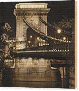 Chain Bridge Close-up Wood Print