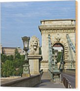 Chain Bridge In Budapest Wood Print