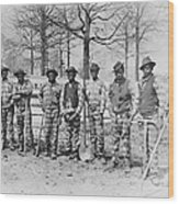Chain Gang C. 1885 Wood Print by Daniel Hagerman