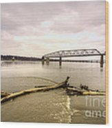 Chain Of Rocks Bridge  Wood Print