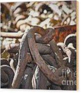 Chain Picking Wood Print