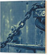 Chained And Moody Wood Print