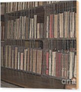 Chained Library At Hereford Cathedral Wood Print