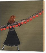 Chained To A Memory Wood Print by Hazel Billingsley