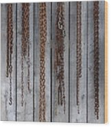 Chains On The Wall Wood Print
