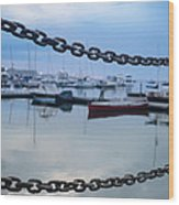 Chains Over The Water Wood Print