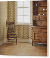 Chair And Cupboard Wood Print