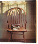 Chair And Lace Shadows Wood Print