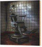 Chair Of Horror Wood Print