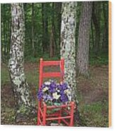 Chair Of The Grand Elf Wood Print