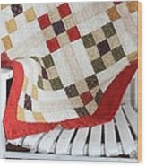 Chair Quilt            Brush Strokes Wood Print