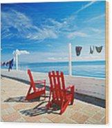 Chairs Cape Cod Ma Wood Print