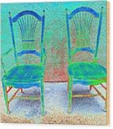 Chairs Wood Print