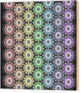 Chakra Healing Grid Wood Print