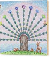 Chakra Tree Wood Print