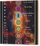 Chakras Explanation Wood Print