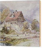 Chalet, Brunnen, Lake Lucerne Wood Print