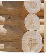 Chalet Logs Wood Print